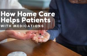 helping a patient with their medication